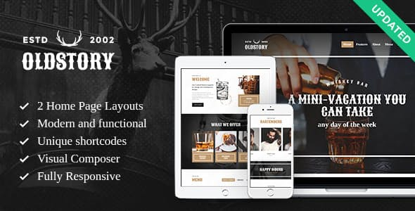 OldStory-1 - 35+ AMAZING WordPress Bar & Pub Themes [year]