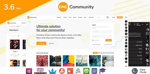 OneCommunity-1 - 30+ AWESOME WordPress Intranet Themes [year]