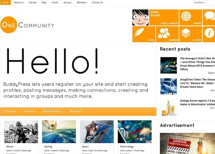 OneCommunity - 35+ Responsive WordPress Community Themes [year]