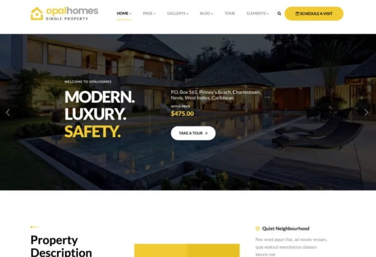 Opalhomes - 35+ Stunning WordPress Single Property Themes [year]