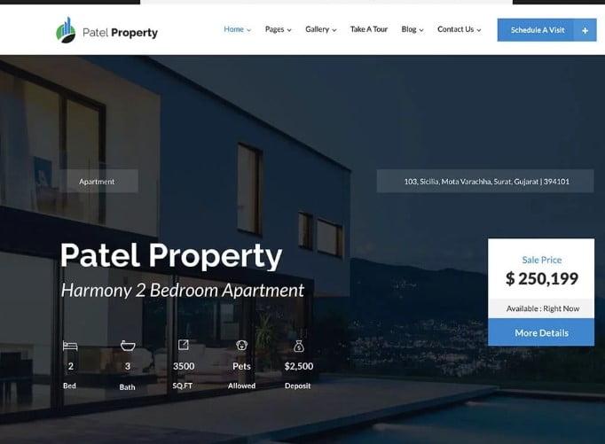 PatelProperty - 35+ Stunning WordPress Single Property Themes [year]