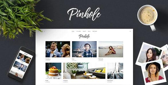 Pinhole - 37+ Great WordPress Wedding Photography Themes [year]