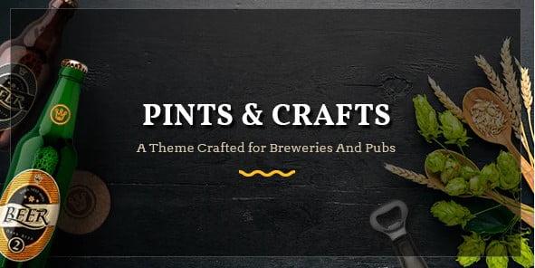 PintsCrafts - 34+ AWESOME WordPress Brewery Themes [year]
