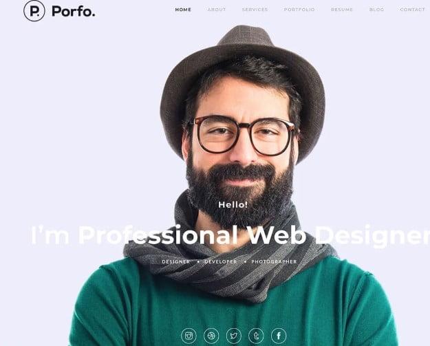 Porfo - 35+ GREAT WordPress Resume Themes [year]