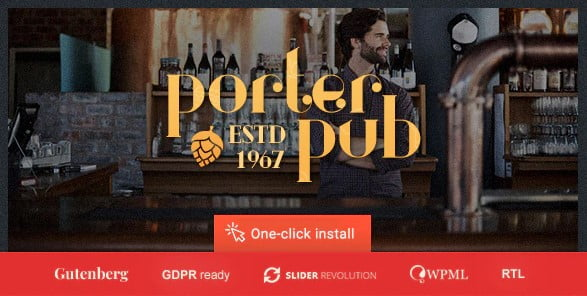 Porter-Pub-1 - 35+ AMAZING WordPress Bar & Pub Themes [year]