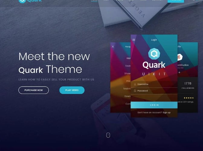 Quark - 36+ Awesome WordPress Single Product Themes [year]
