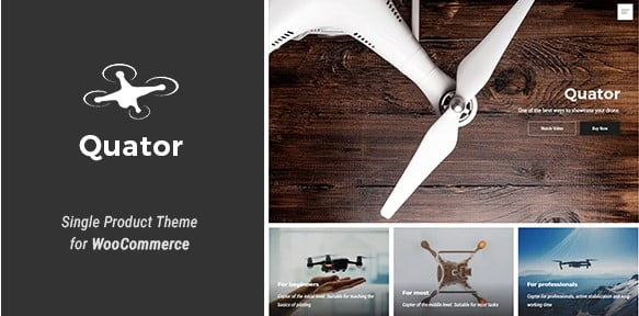 Quator - 36+ Awesome WordPress Single Product Themes [year]