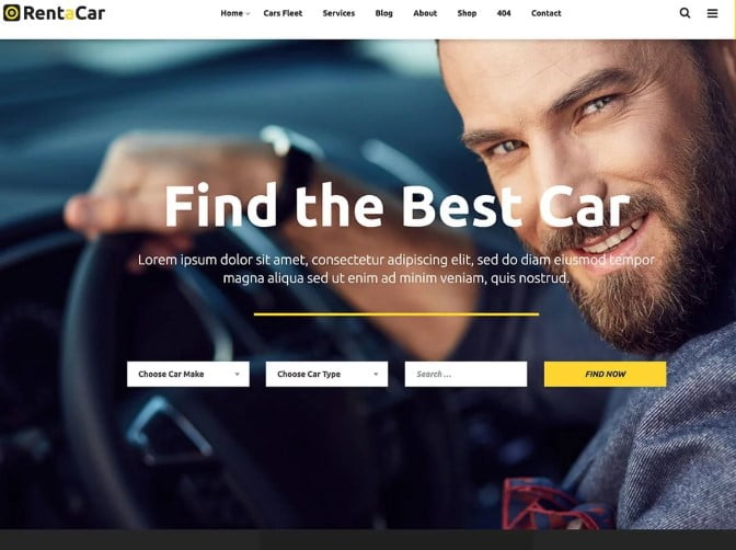 Rentacar - 30+ Awesome WordPress Car Rental Themes [year]