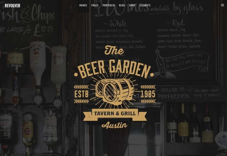 Revolver - 35+ AMAZING WordPress Bar & Pub Themes [year]