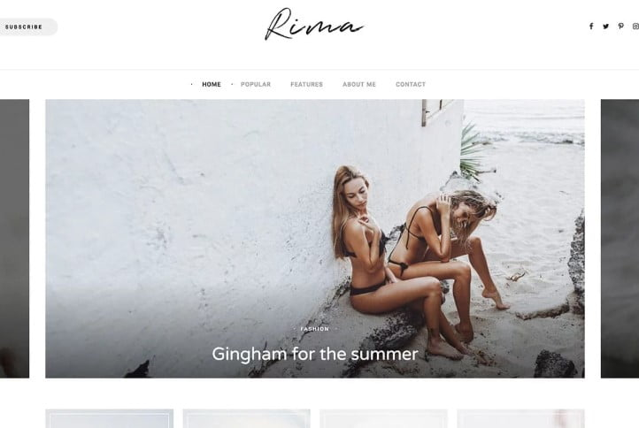 Rima - 35+ TOP WordPress Lifestyle Themes [year]