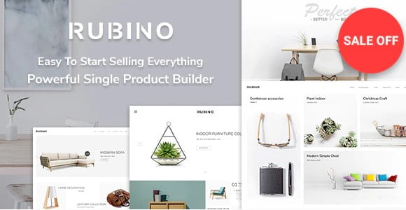 Rubino - 36+ Awesome WordPress Single Product Themes [year]