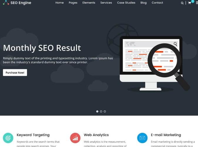 SEO-Engine - 36+ Amazing WordPress SEO Agency Themes [year]