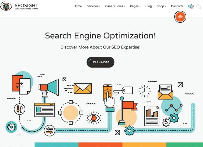 SEOsight - 36+ Amazing WordPress SEO Agency Themes [year]