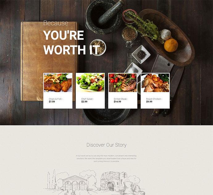 Select - 34+ GREAT WordPress Restaurant Landing Page Themes [year]