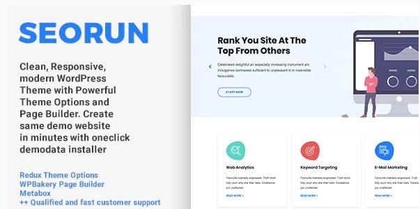 Seorun-1 - 36+ Amazing WordPress SEO Agency Themes [year]