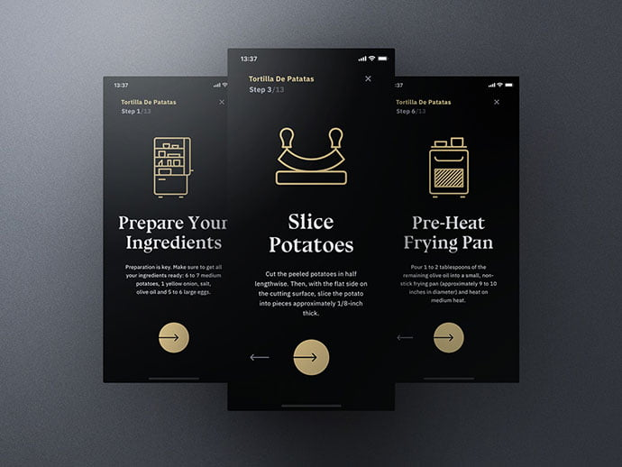 Sheek-Food - 46+ BEST Free Dark App UI Designs IDEA [year]