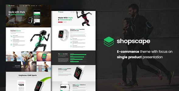 Shopscape - 36+ Awesome WordPress Single Product Themes [year]
