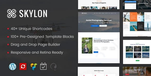 Skylon - 37+ Great WordPress Wedding Photography Themes [year]