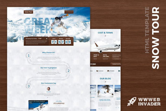 Snow-Tour - 35+ NICE CSS HTML Website Templates [year]