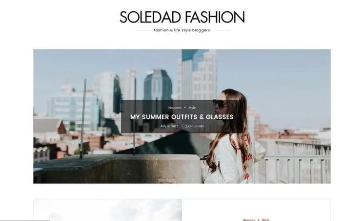 Soledad - 35+ TOP WordPress Lifestyle Themes [year]