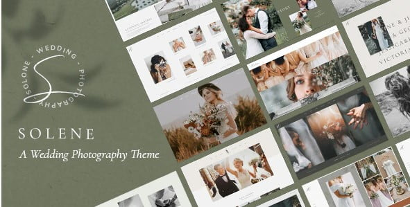 Solene - 37+ Great WordPress Wedding Photography Themes [year]