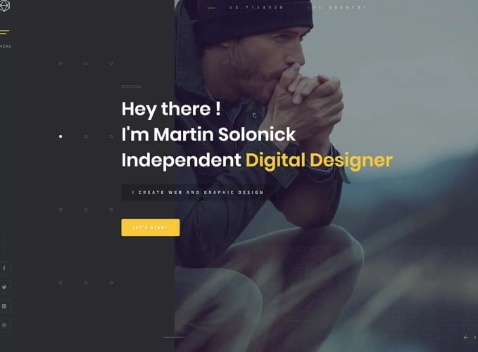 Solonick - 35+ GREAT WordPress Resume Themes [year]