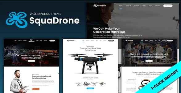 SquaDrone - 36+ Awesome WordPress Single Product Themes [year]