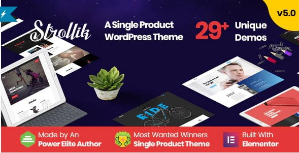 Strollik - 36+ Awesome WordPress Single Product Themes [year]