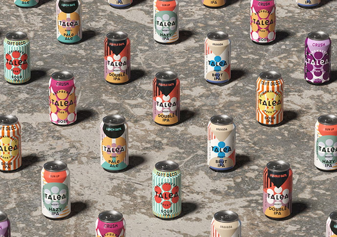 Talea-Beer-Co - 38+ Nice Free Pattern Shapes Packaging Designs [year]
