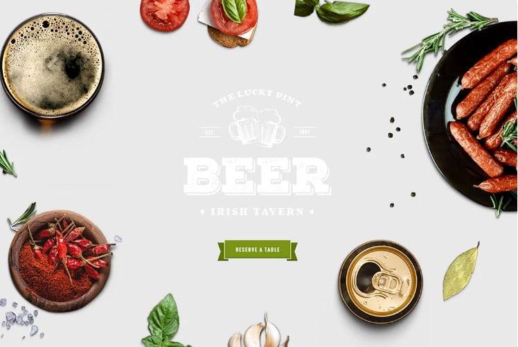 Tavern - 34+ AWESOME WordPress Brewery Themes [year]