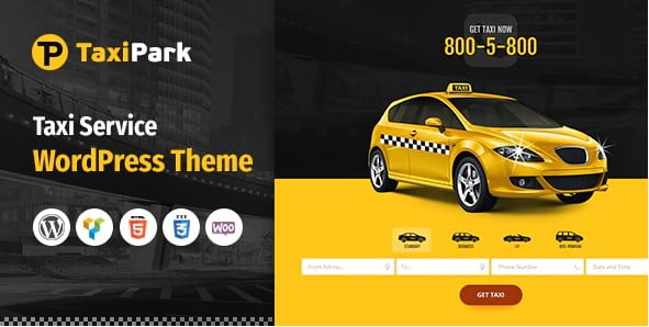 TaxiPark - 34+ TOP Responsive WordPress Taxi Themes [year]