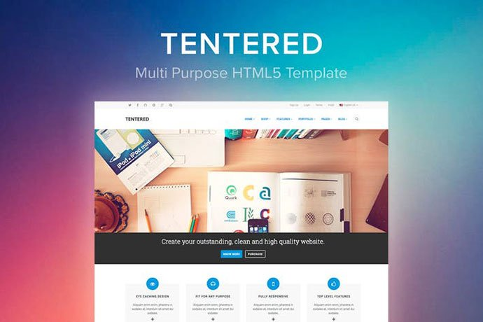 Tentered - 35+ NICE CSS HTML Website Templates [year]