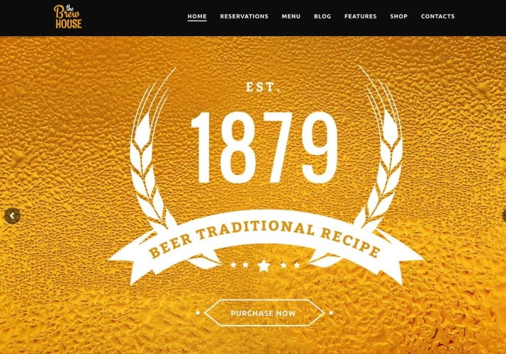 The-Brew-House-1 - 35+ AMAZING WordPress Bar & Pub Themes [year]