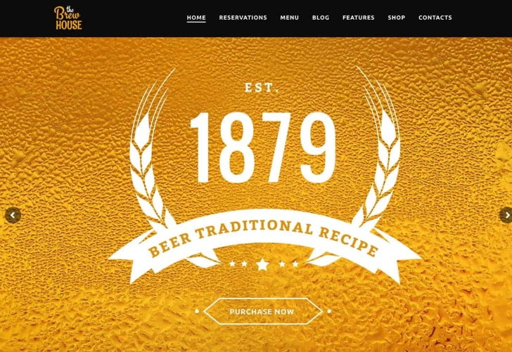 The-Brew-House - 34+ AWESOME WordPress Brewery Themes [year]