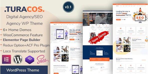 Turacos - 36+ Amazing WordPress SEO Agency Themes [year]