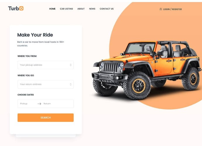 Turbo - 30+ Awesome WordPress Car Rental Themes [year]