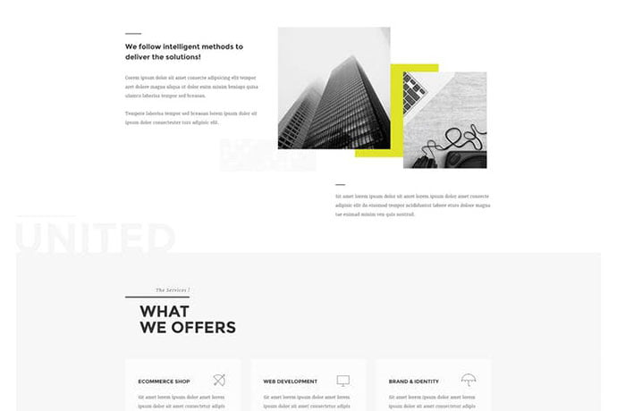 UNITED-1 - 35+ NICE CSS HTML Website Templates [year]