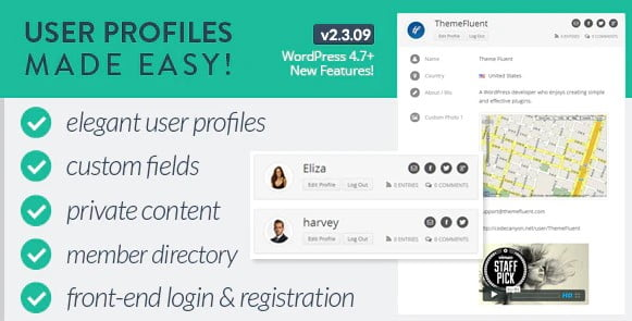 User-Profiles-Made-Easy - 35+ Popular Membership Plugins For WordPress [year]