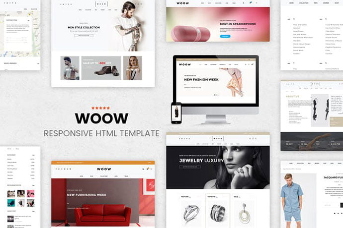 WOOW - 35+ NICE CSS HTML Website Templates [year]