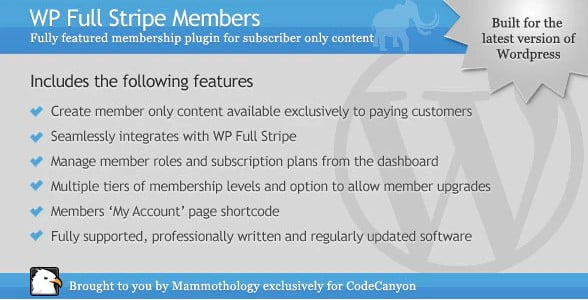 WP-Full-Stripe-Members - 35+ Popular Membership Plugins For WordPress [year]
