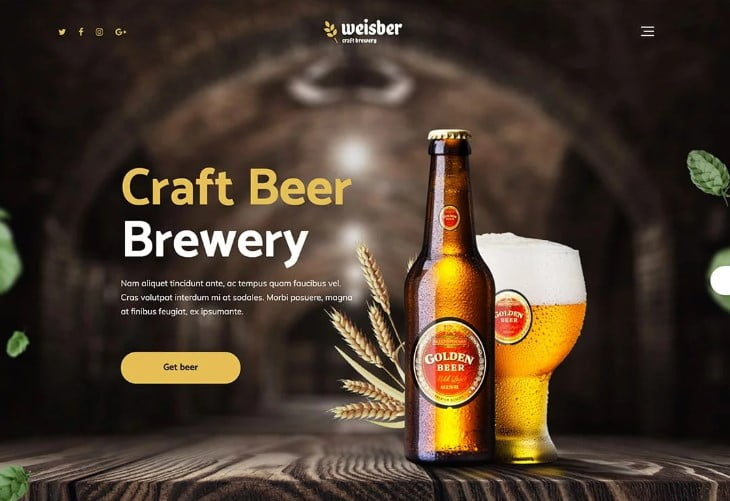 Weisber-1 - 34+ AWESOME WordPress Brewery Themes [year]