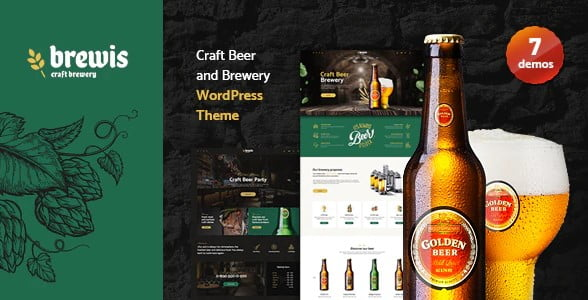 Weisber - 34+ AWESOME WordPress Brewery Themes [year]