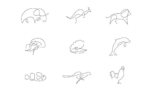 Wild-Lines - 36+ AMAZING Free Minimal Illustrations IDEA [year]