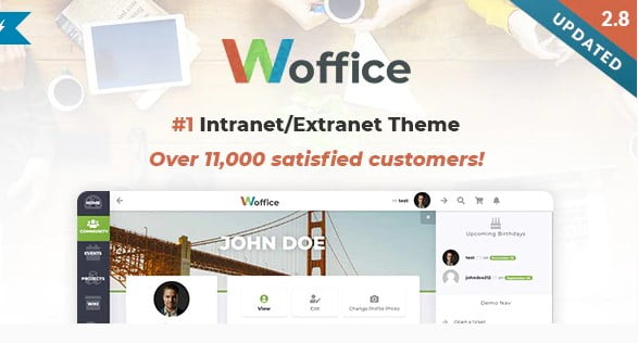 Woffice - 30+ AWESOME WordPress Intranet Themes [year]