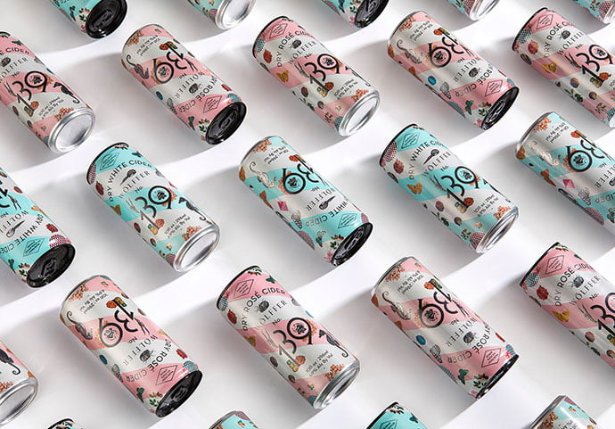 Wolffer-139-Cider-Cans - 38+ Nice Free Pattern Shapes Packaging Designs [year]