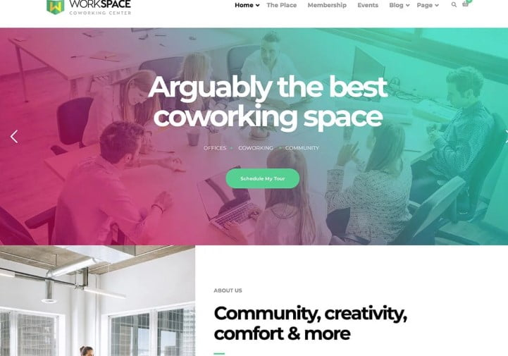 WorkSpace - 35+ TOP WordPress Coworking Space Themes [year]