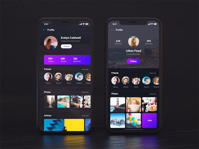 Xiao - 46+ BEST Free Dark App UI Designs IDEA [year]