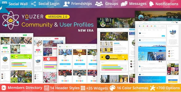 Youzer - 35+ Popular Membership Plugins For WordPress [year]