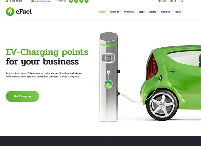 eFuel - 30+ Awesome WordPress Car Rental Themes [year]