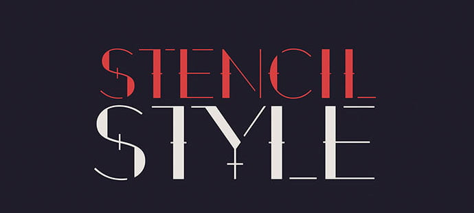 2 - 36+ NICE BEST Free Stencil Fonts [year]